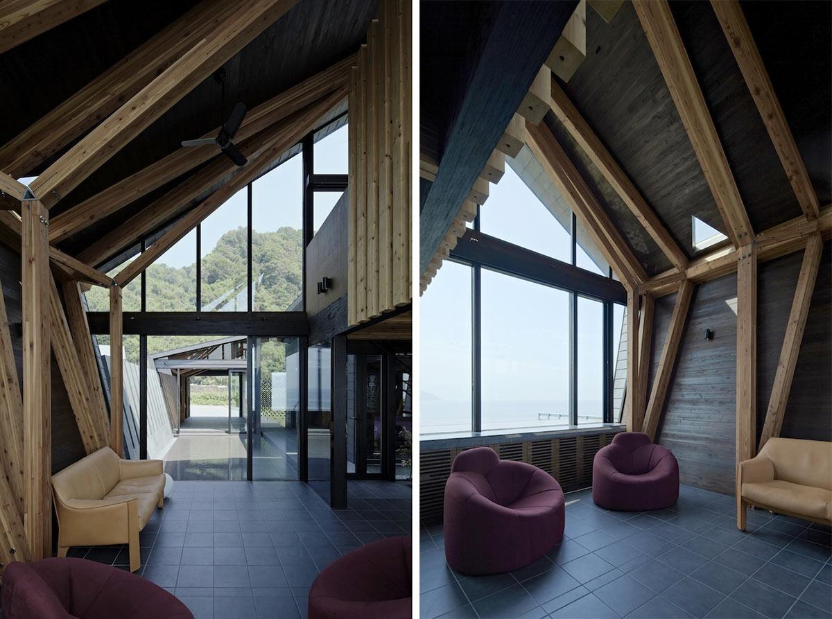 Living Space, Villa SSK Overlooking Tokyo Bay in Chiba, Japan
