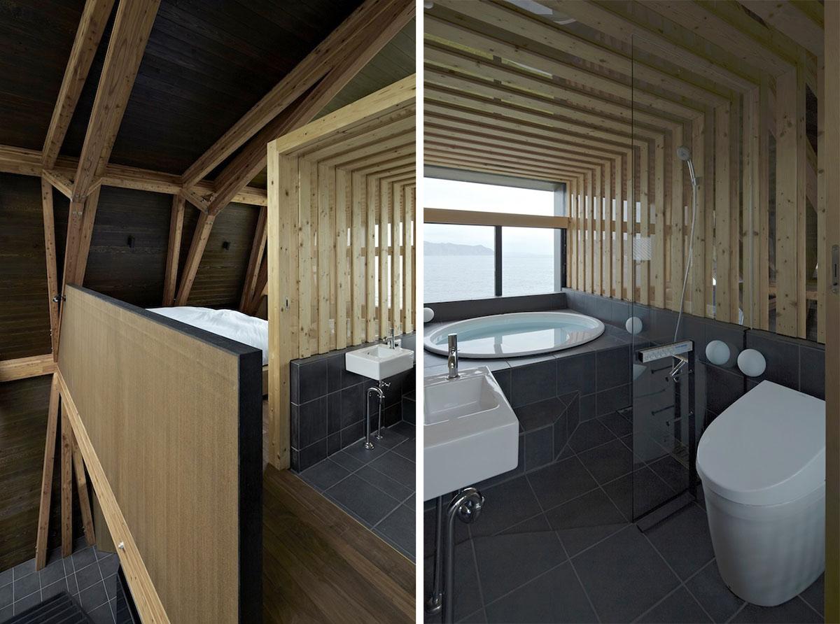 Mezzanine, Bathroom, Villa SSK Overlooking Tokyo Bay in Chiba, Japan