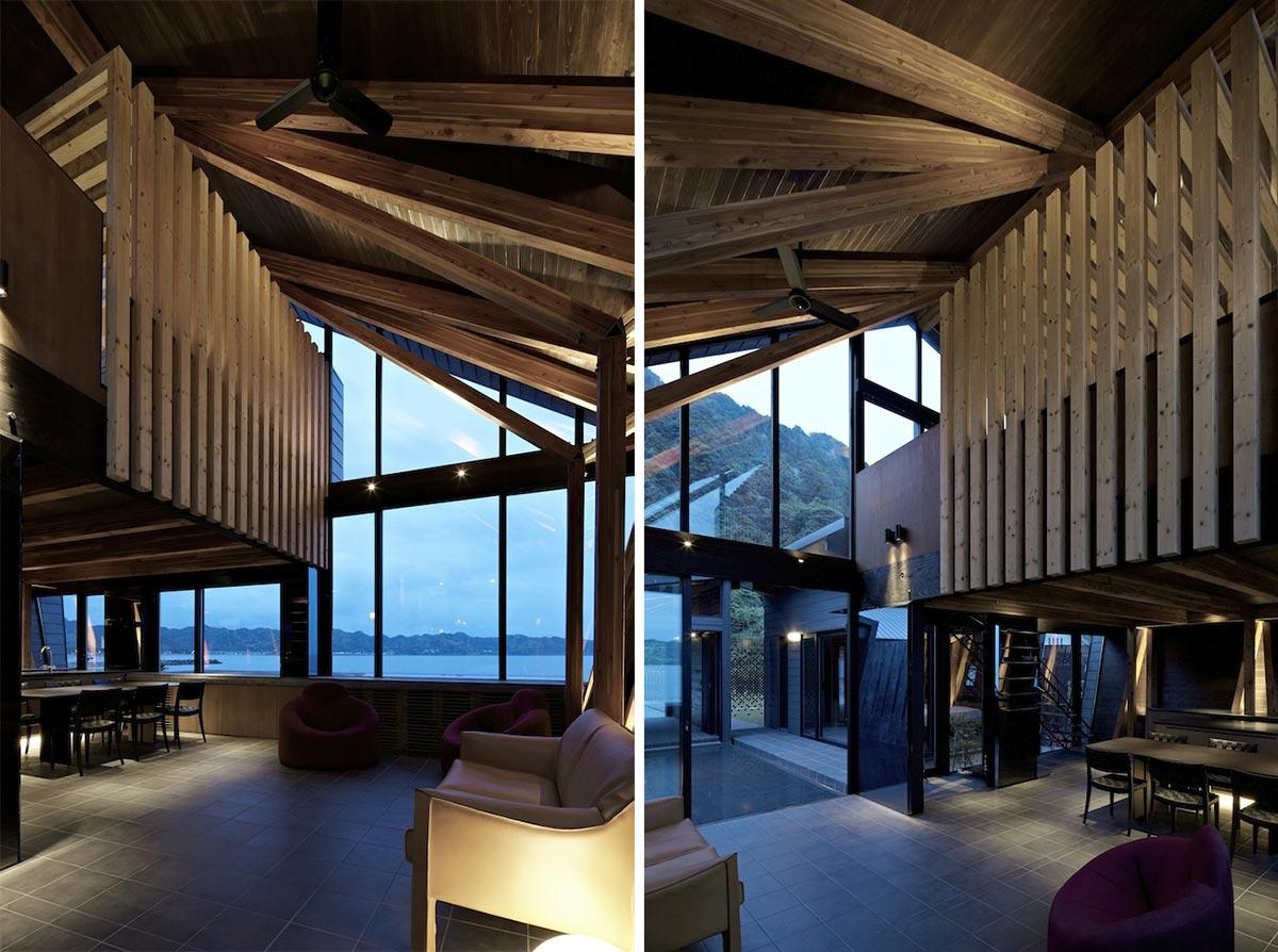 Open Plan Dining, Living, Villa SSK Overlooking Tokyo Bay in Chiba, Japan