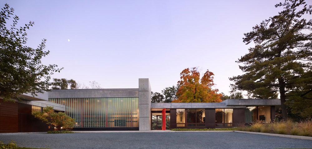 Entrance, Weekend Residence in Illinois, USA