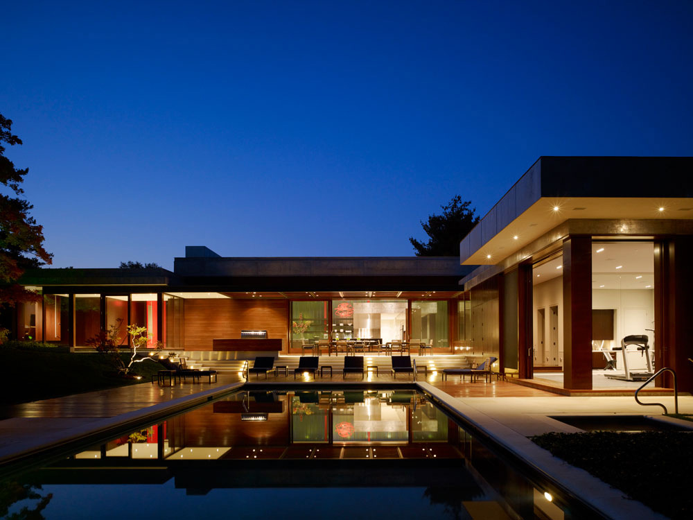 Lighting, Weekend Residence in Illinois, USA