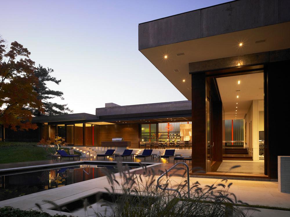 Lighting, Weekend Residence in Illinois, USA