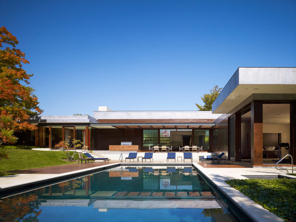 Outdoor Pool, Weekend Residence in Illinois, USA