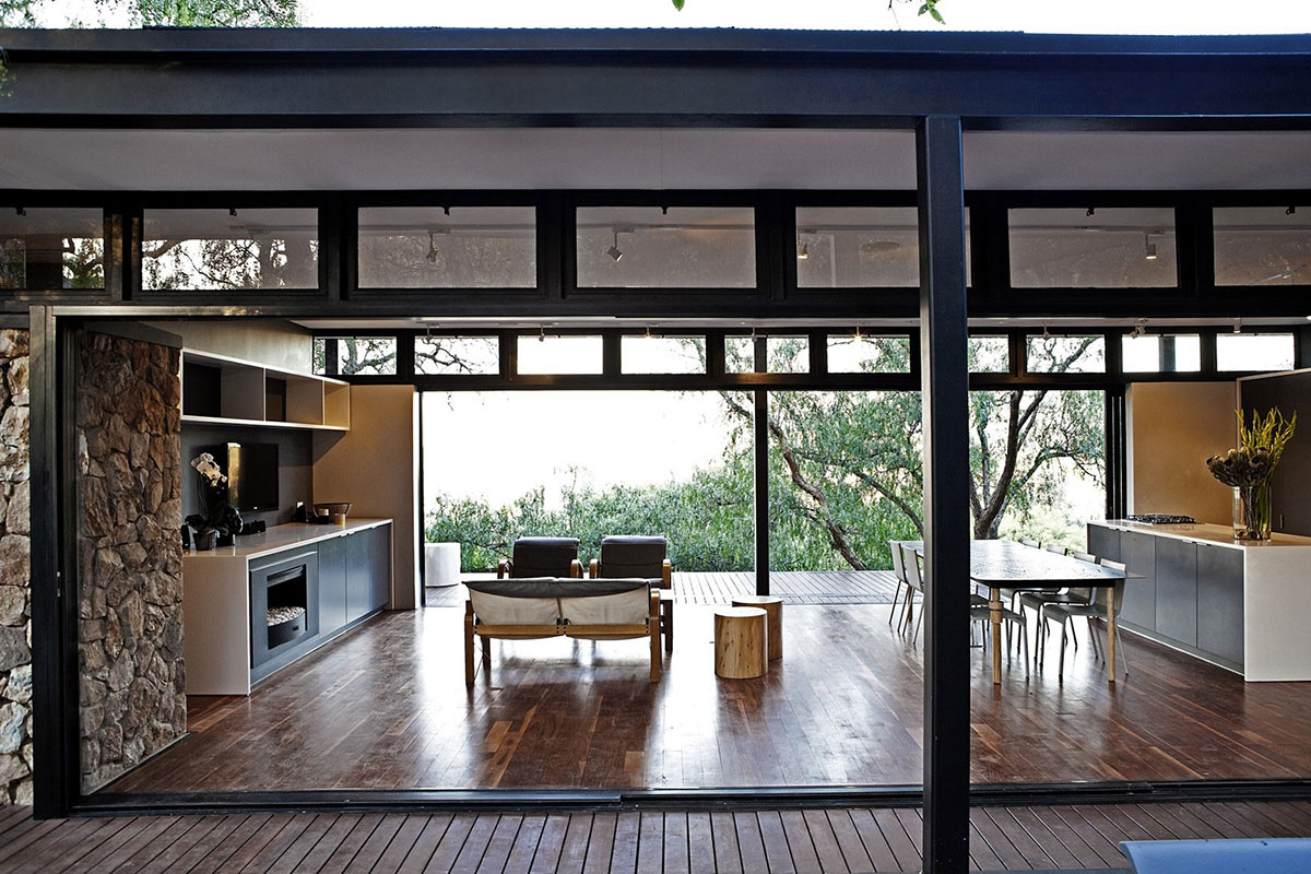 Living, Kitchen & Dining Space, Compact Contemporary Home in Johannesburg, South Africa