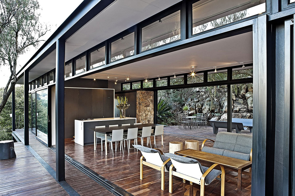 Patio Doors, Compact Contemporary Home in Johannesburg, South Africa