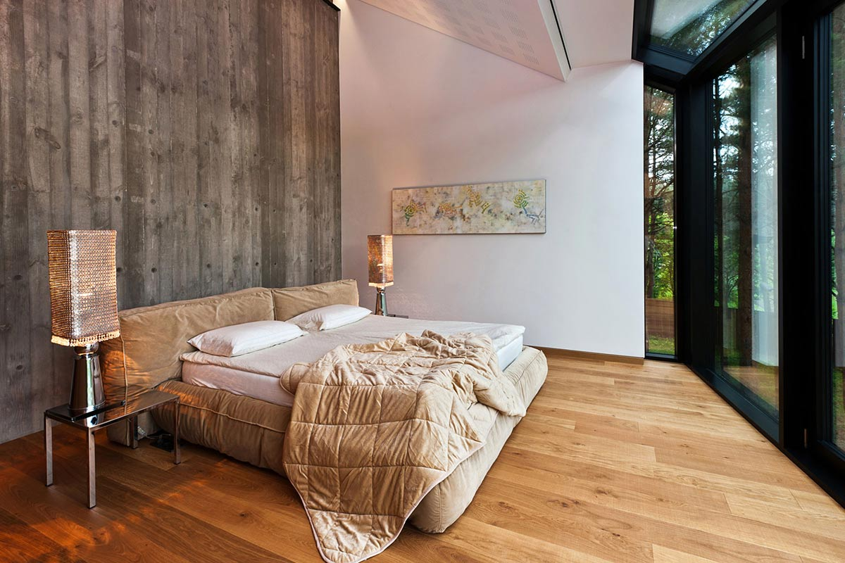 Bedroom, House in the Woods of Kaunas, Lithuania