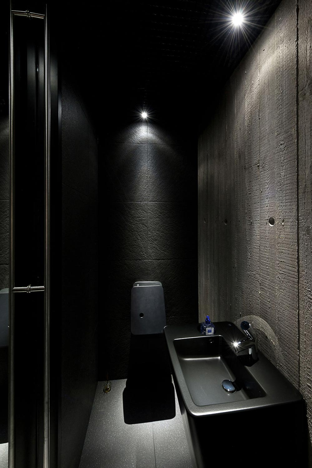 Dark Bathroom, House in the Woods of Kaunas, Lithuania
