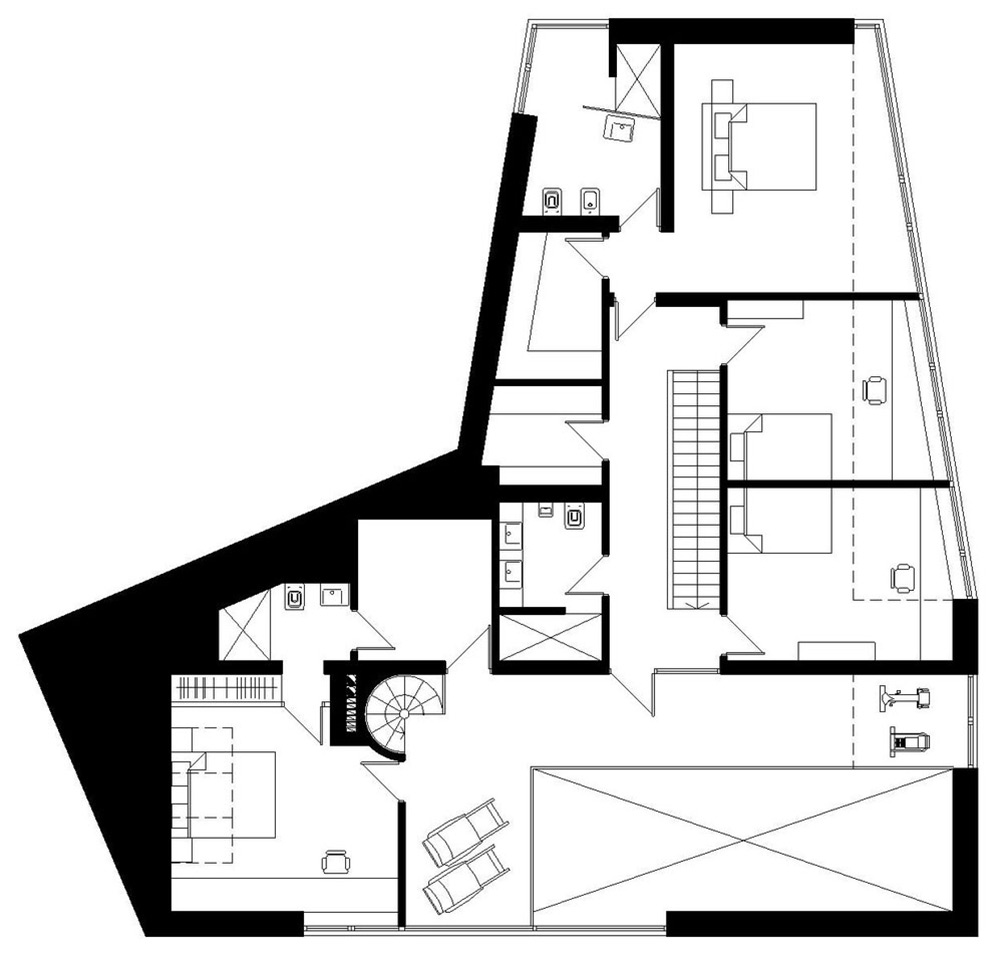 First Floor Plan, House in the Woods of Kaunas, Lithuania