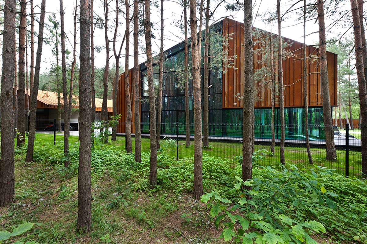 Garden, House in the Woods of Kaunas, Lithuania