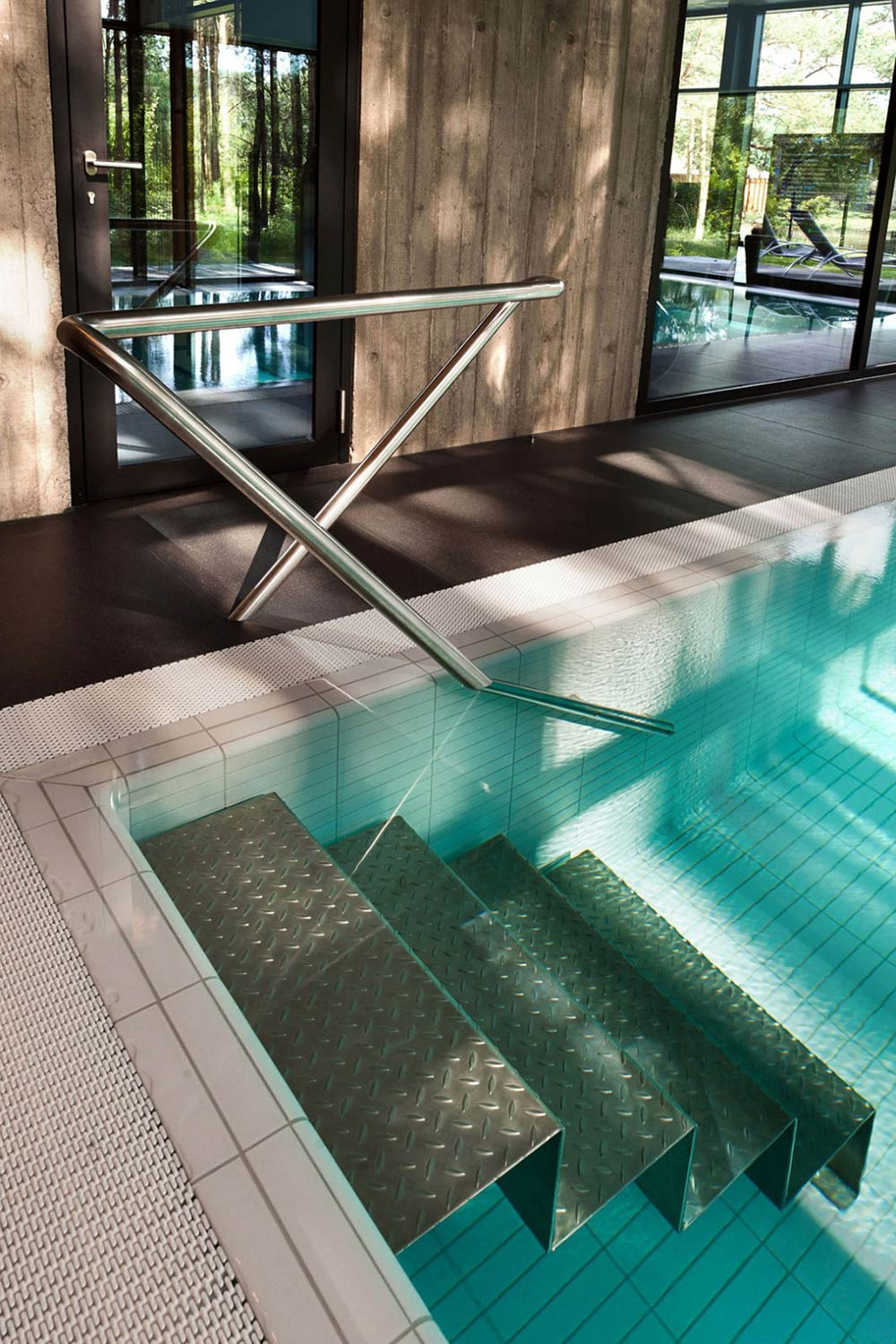 Indoor Swimming Pool, House in the Woods of Kaunas, Lithuania