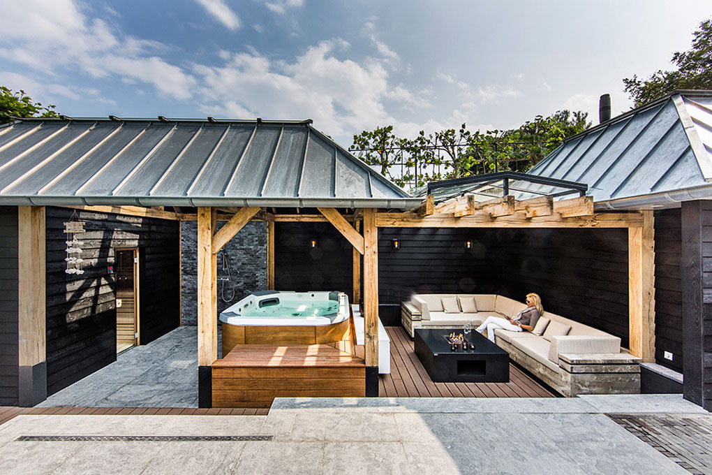 Outdoor Living Space, Aquatic Backyard in The Netherlands by Centric Design Group
