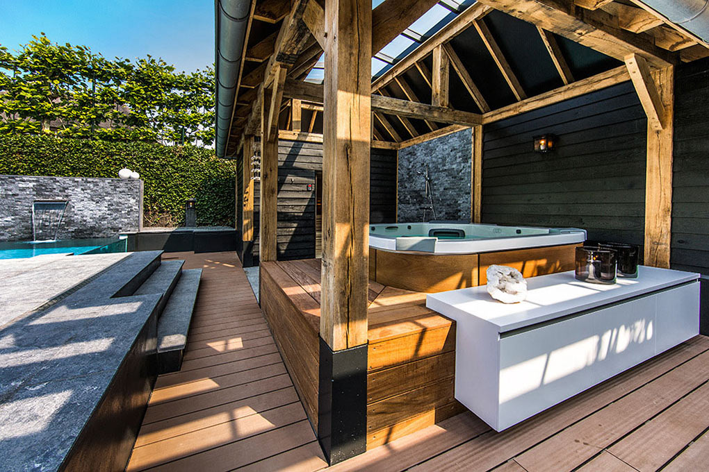 Outdoor Living, Aquatic Backyard in The Netherlands by Centric Design Group