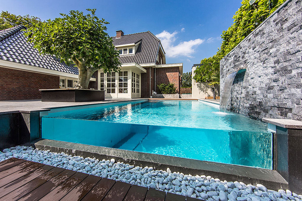 Acrylic See Through Pool, Aquatic Backyard In The Netherlands By Centric  Design Group