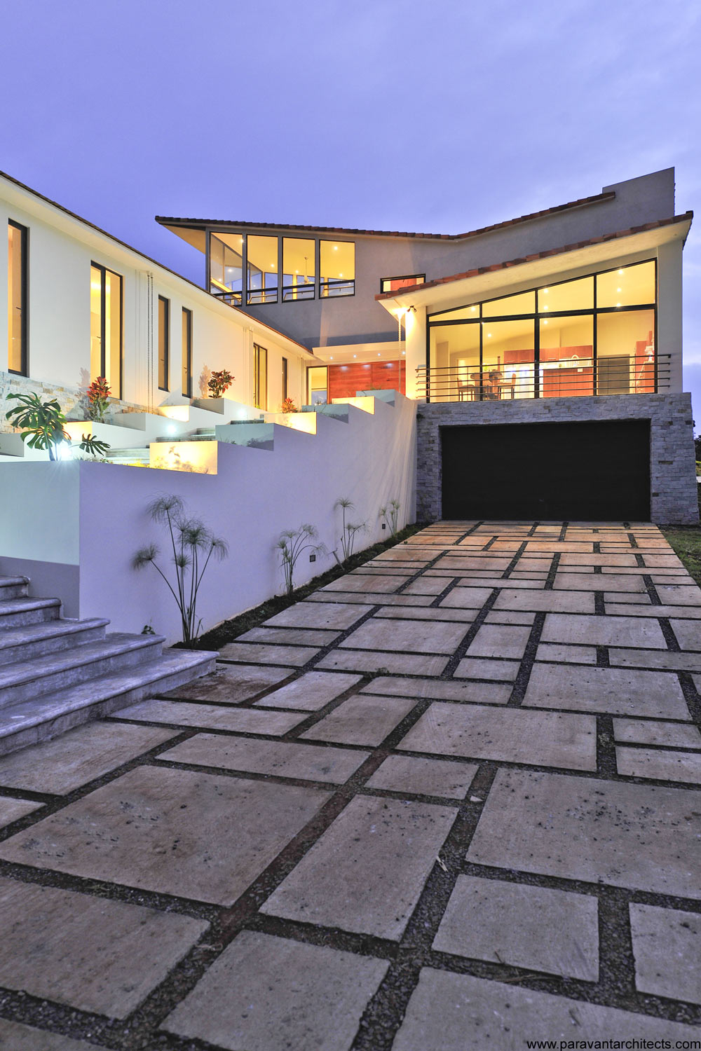 Driveway, Garage, Entrance, Areopagus Residence in Atenas, Costa Rica by Paravant Architects
