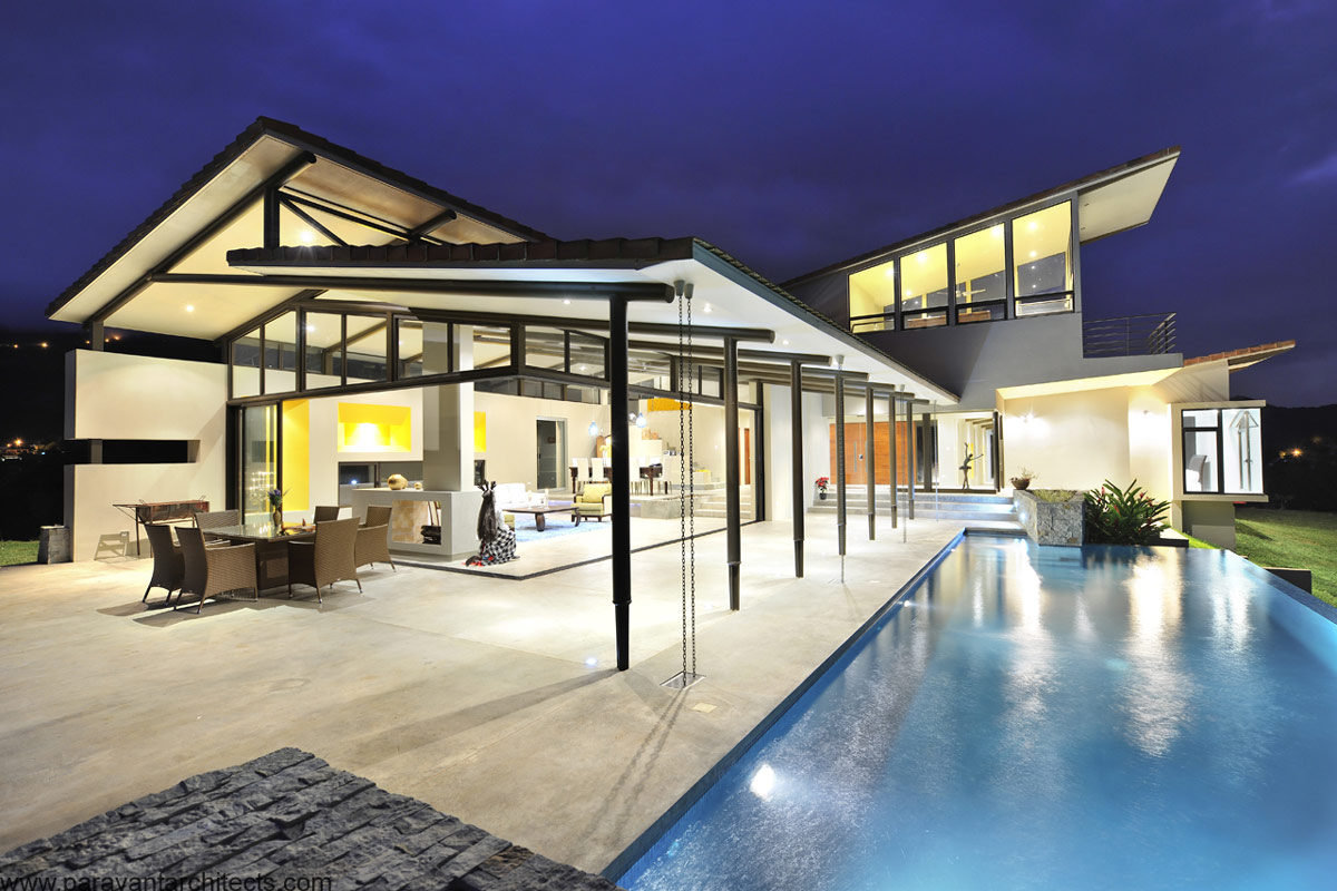 Pool, Outdoor Living Space, Areopagus Residence in Atenas, Costa Rica by Paravant Architects
