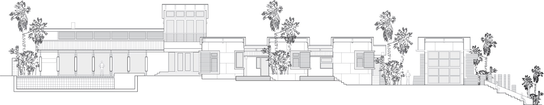 South Elevation, Areopagus Residence in Atenas, Costa Rica by Paravant Architects