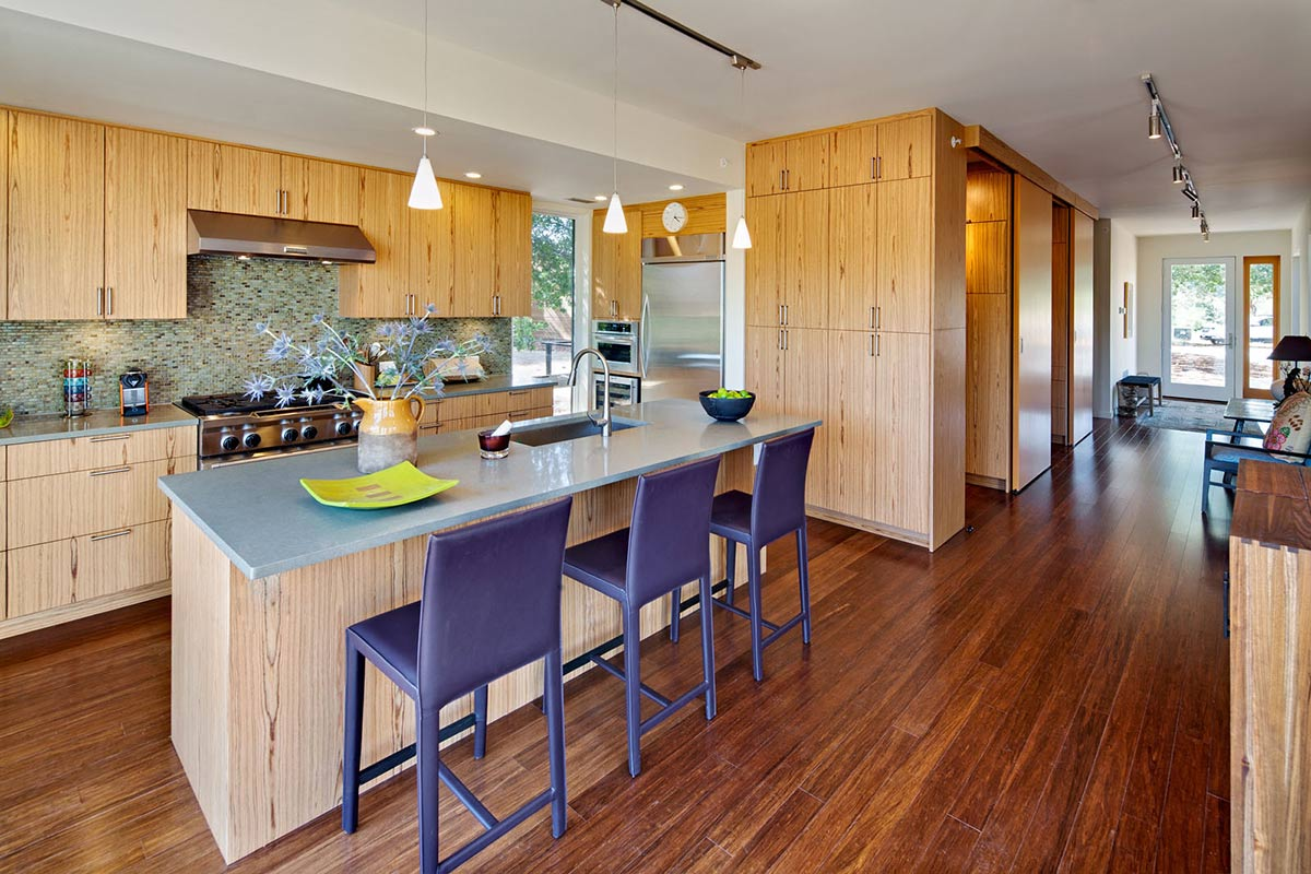 Kitchen Island, Breakfast Table, The Breezehouse in Healdsburg, California by Blu Homes