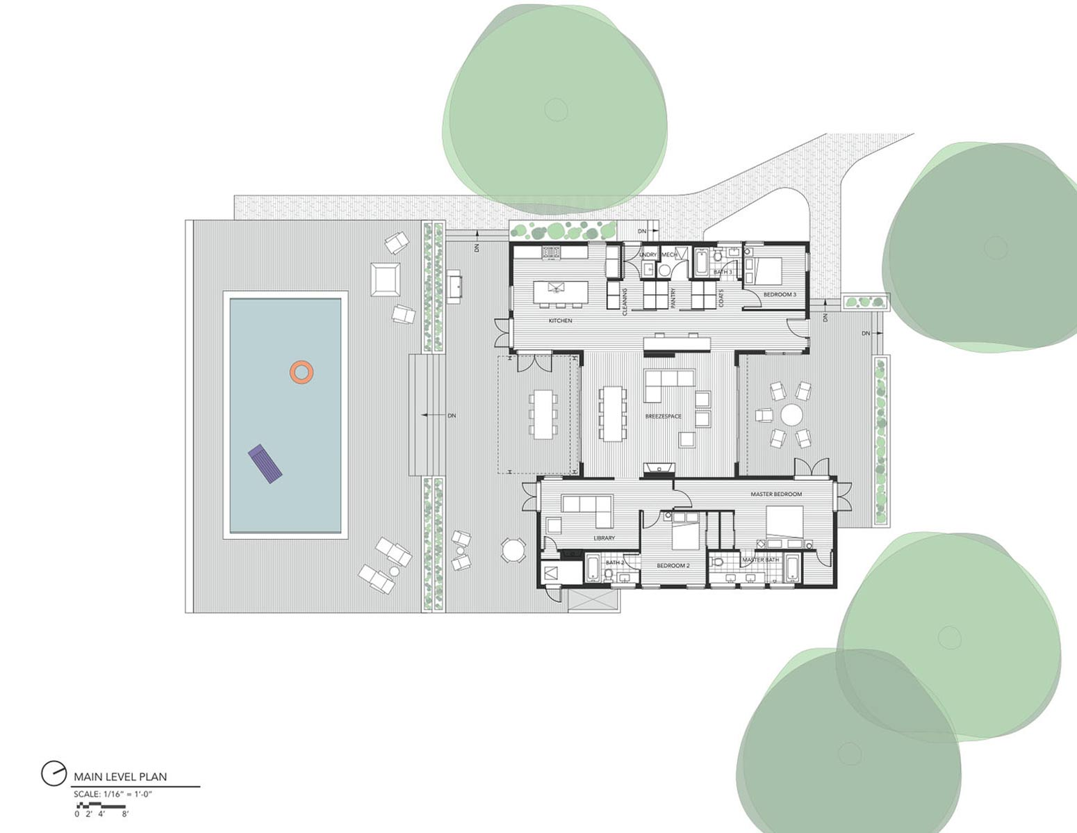 Floor Plan, The Breezehouse in Healdsburg, California by Blu Homes