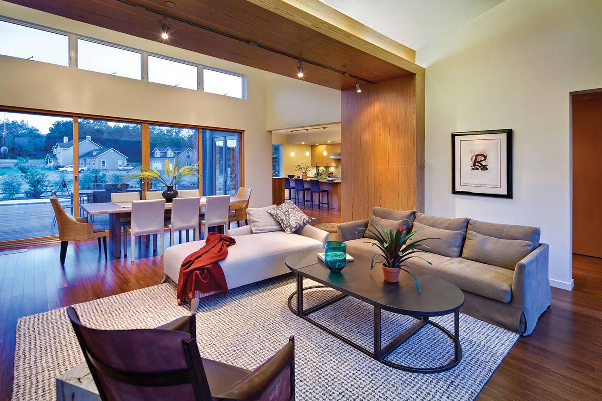 Open Plan Living, The Breezehouse in Healdsburg, California by Blu Homes