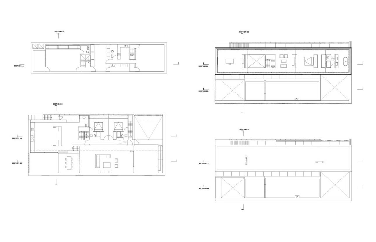 Floor Plans, Burren House in Dublin, Ireland by Níall McLaughlin Architects