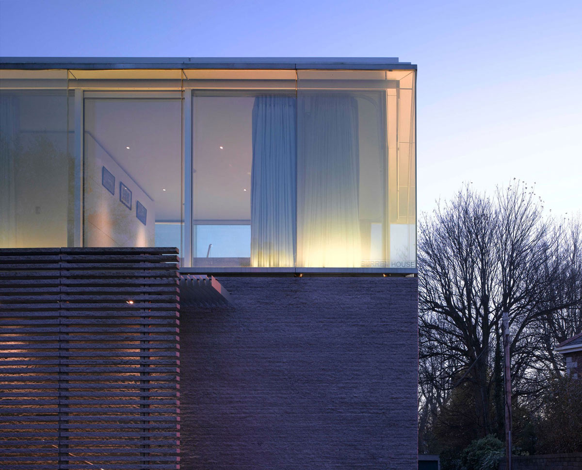 Hewn Granite, Glass Walls, Burren House in Dublin, Ireland by Níall McLaughlin Architects
