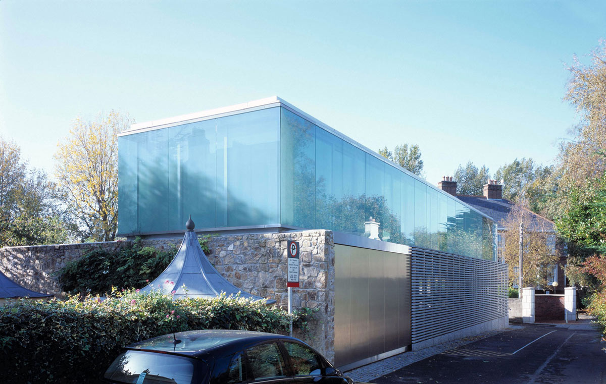 Smoked Glass, Granite Walls, Burren House in Dublin, Ireland by Níall McLaughlin Architects