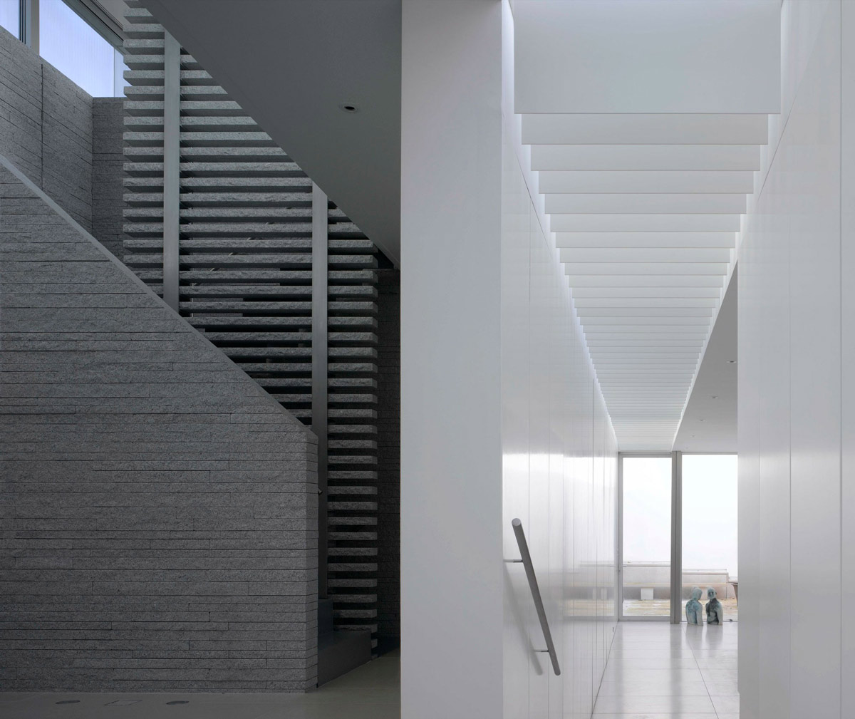 Stairs, Hallway, Burren House in Dublin, Ireland by Níall McLaughlin Architects