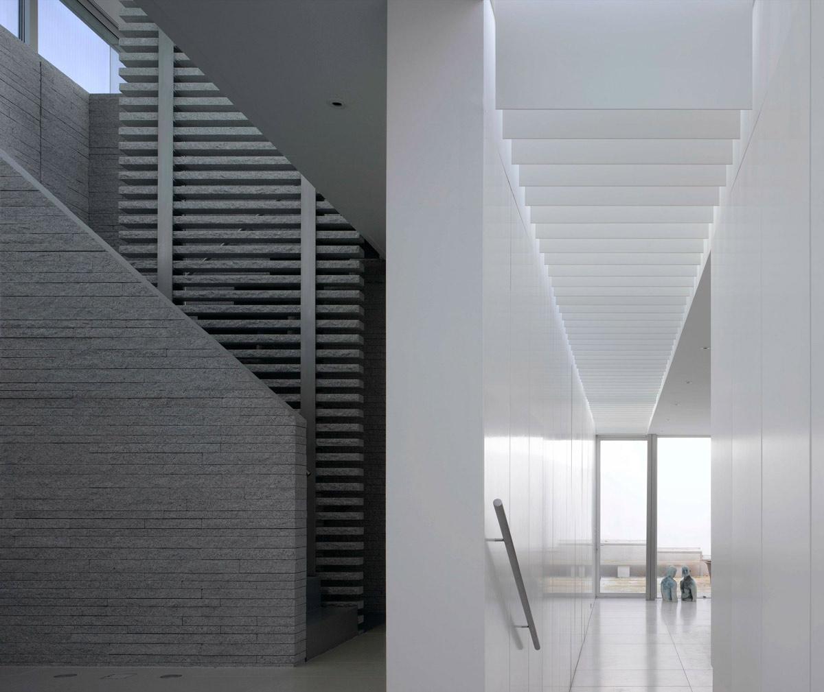 Stairs, Hallway, Burren House in Dublin, Ireland by Níall McLaughlin Architects