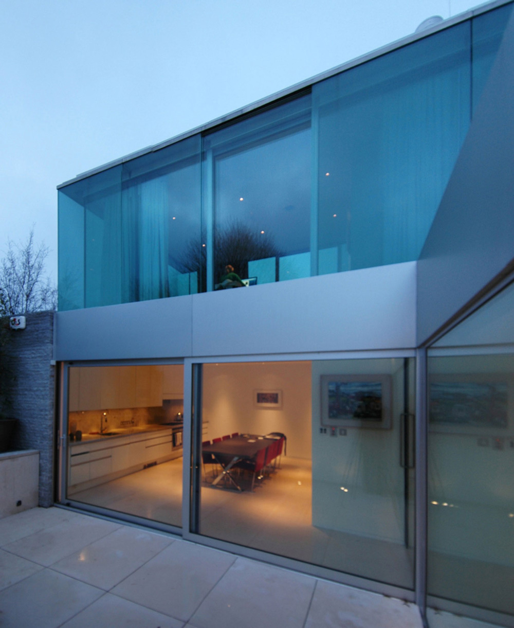 Terrace, Patio Doors, Burren House in Dublin, Ireland by Níall McLaughlin Architects