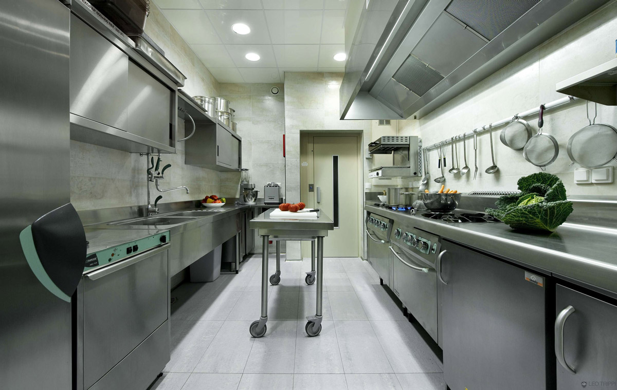 Commercial Kitchen, Villa on the Cap Ferrat, Côte d'Azur, France