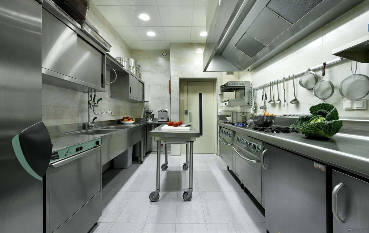 Commercial Kitchen, Villa on the Cap Ferrat, Côte d'Azur, France