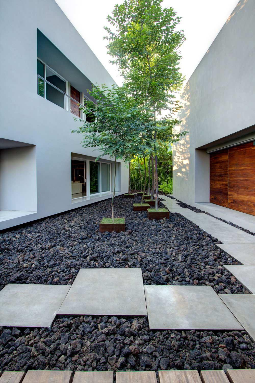 Garden Feature, Casa La Punta in Punta Mita, Mexico by Elías Rizo Arquitectos