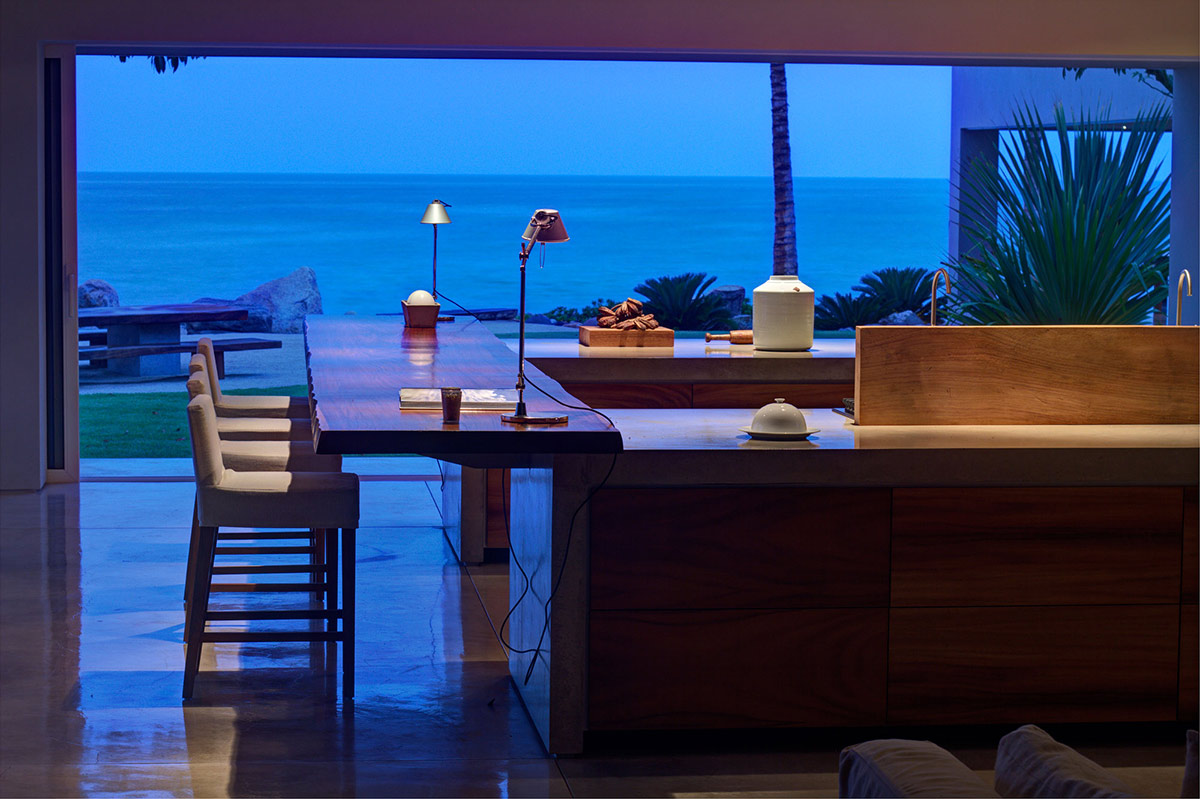 Kitchen, Breakfast Bar, Views, Casa La Punta in Punta Mita, Mexico by Elías Rizo Arquitectos