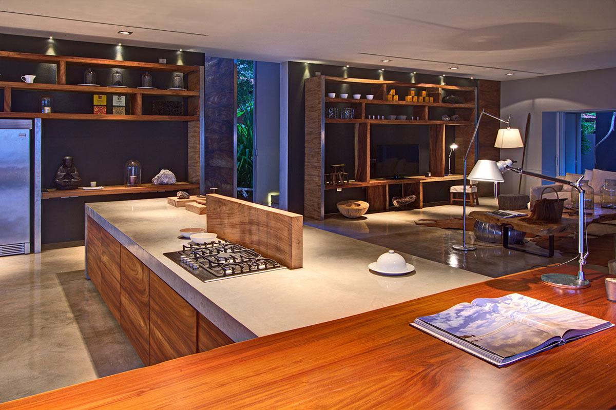 Kitchen, Living Space, Casa La Punta in Punta Mita, Mexico by Elías Rizo Arquitectos