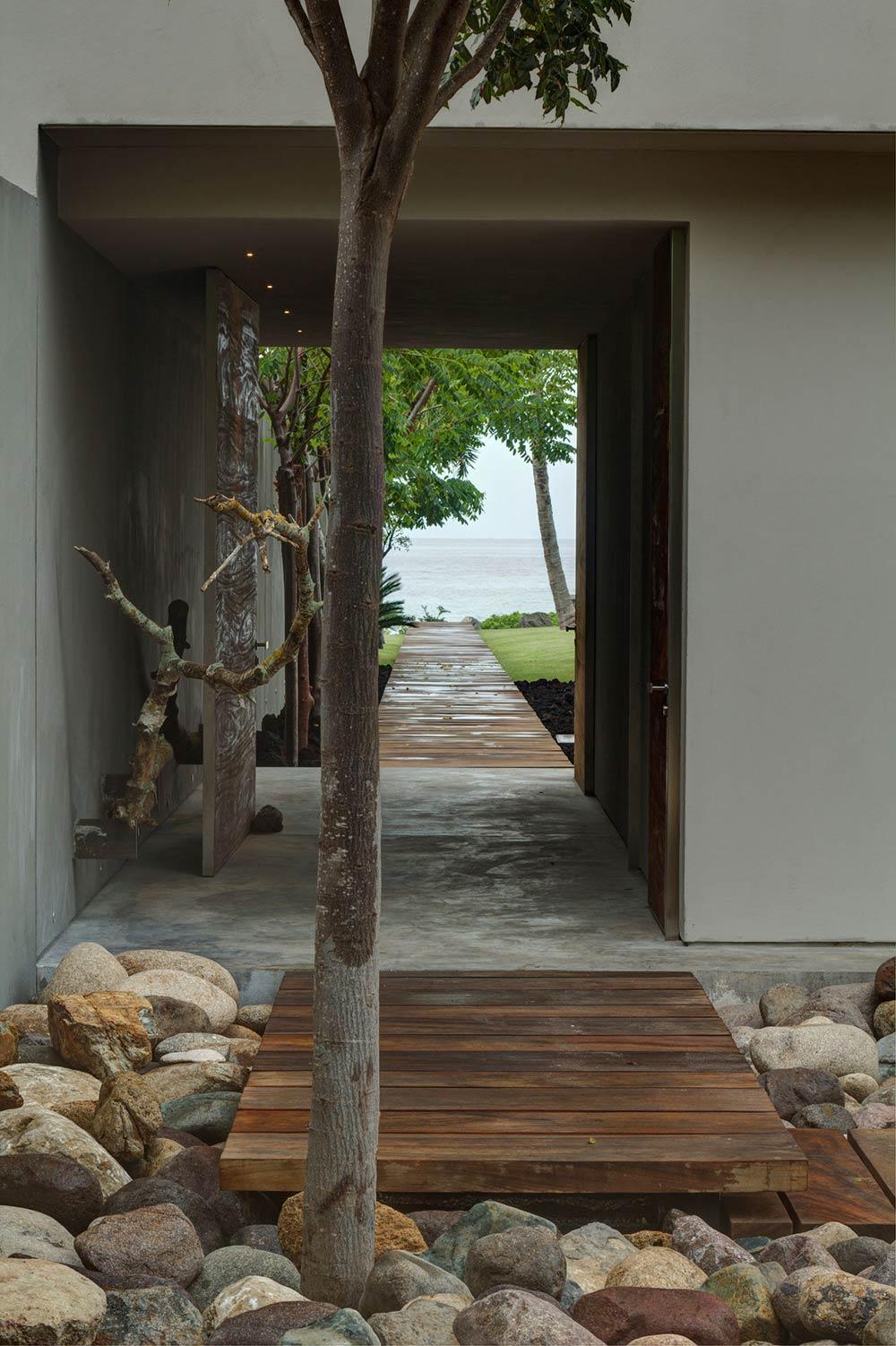 Pathway, Casa La Punta in Punta Mita, Mexico by Elías Rizo Arquitectos