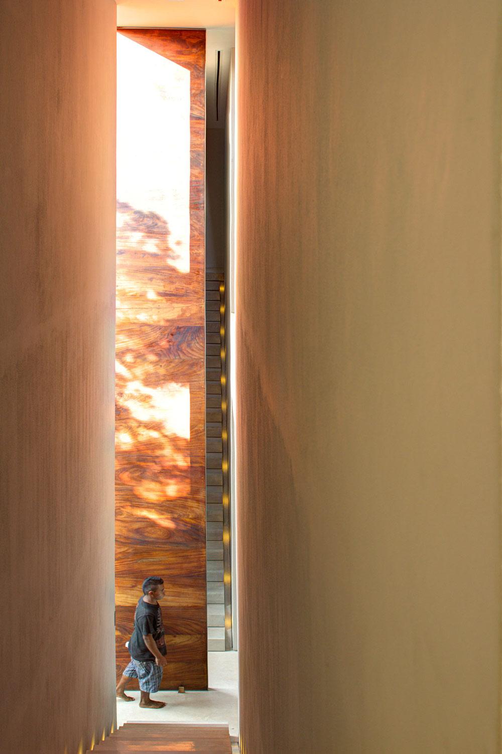 Large Door, Stairs, Casa La Punta in Punta Mita, Mexico by Elías Rizo Arquitectos