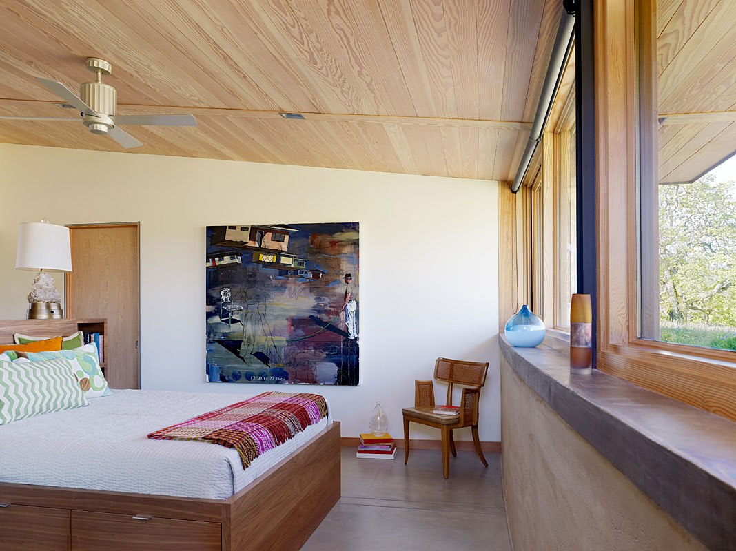 Bedroom, Caterpillar House in Carmel, California by Feldman Architecture