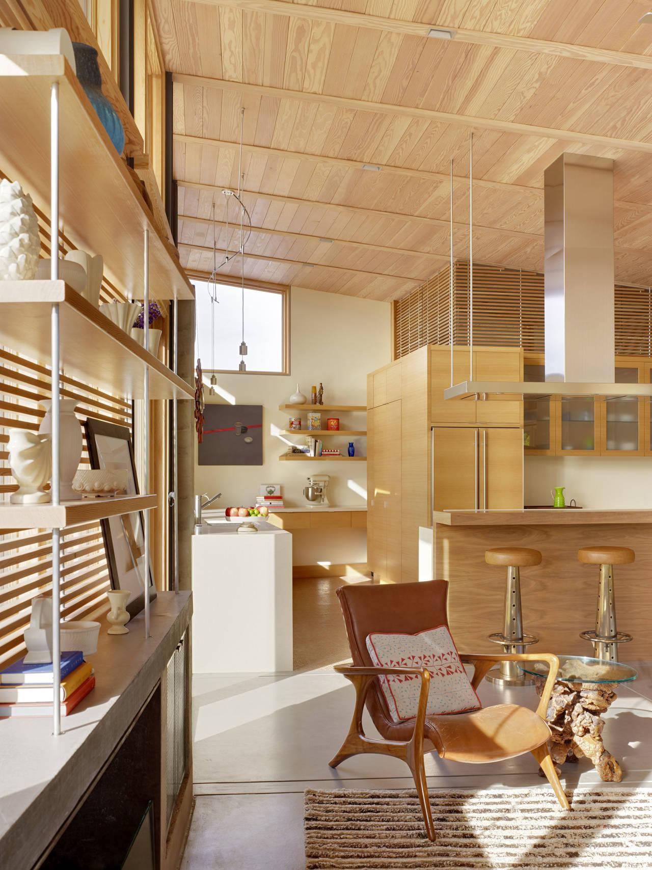 Kitchen, Caterpillar House in Carmel, California by Feldman Architecture