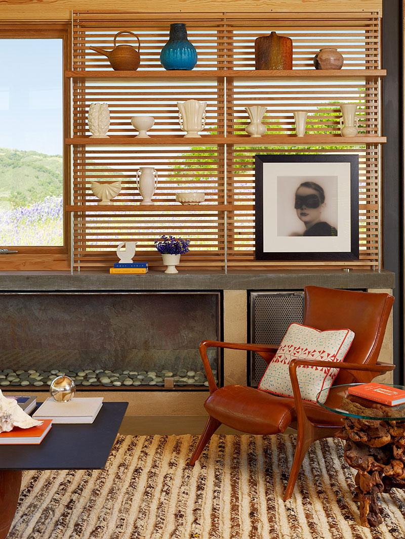 Modern Fireplace, Caterpillar House in Carmel, California by Feldman Architecture