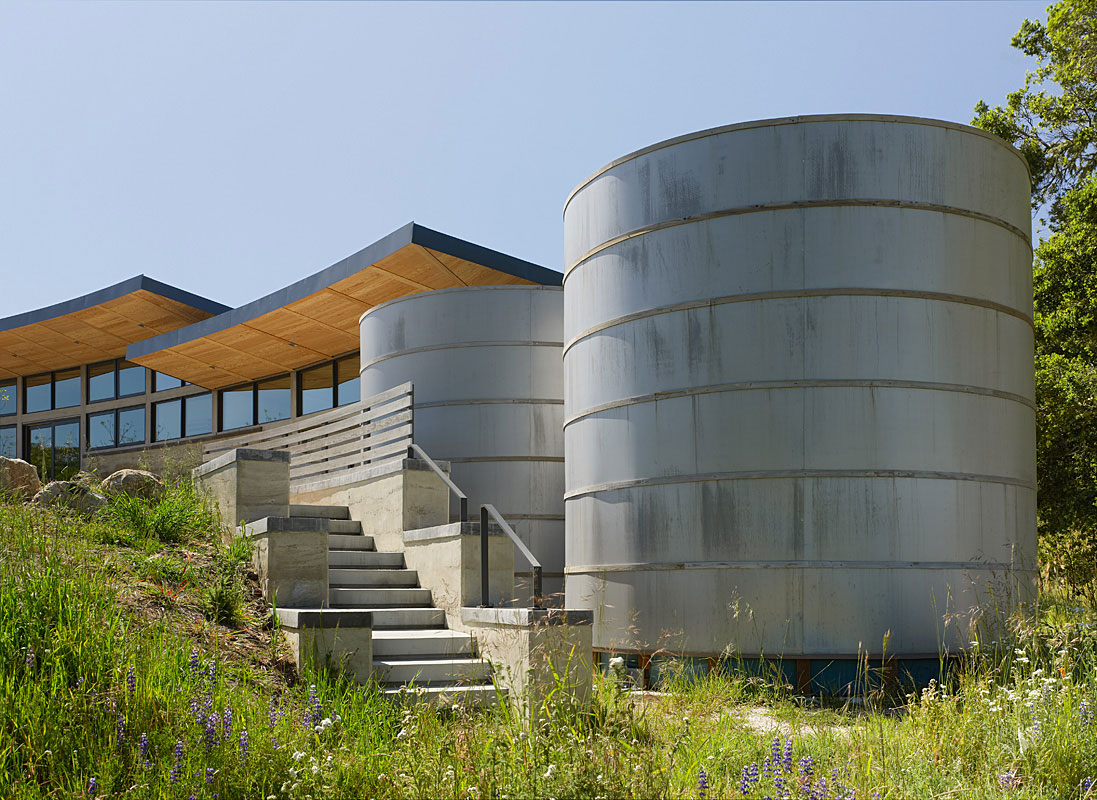 Water Storage Tanks, Caterpillar House in Carmel, California by Feldman Architecture