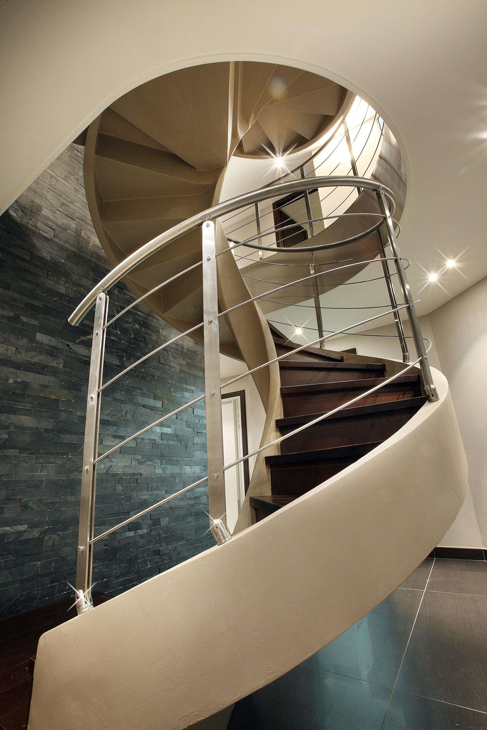 Modern Stairs, Chalet E in Courchevel 1850, France