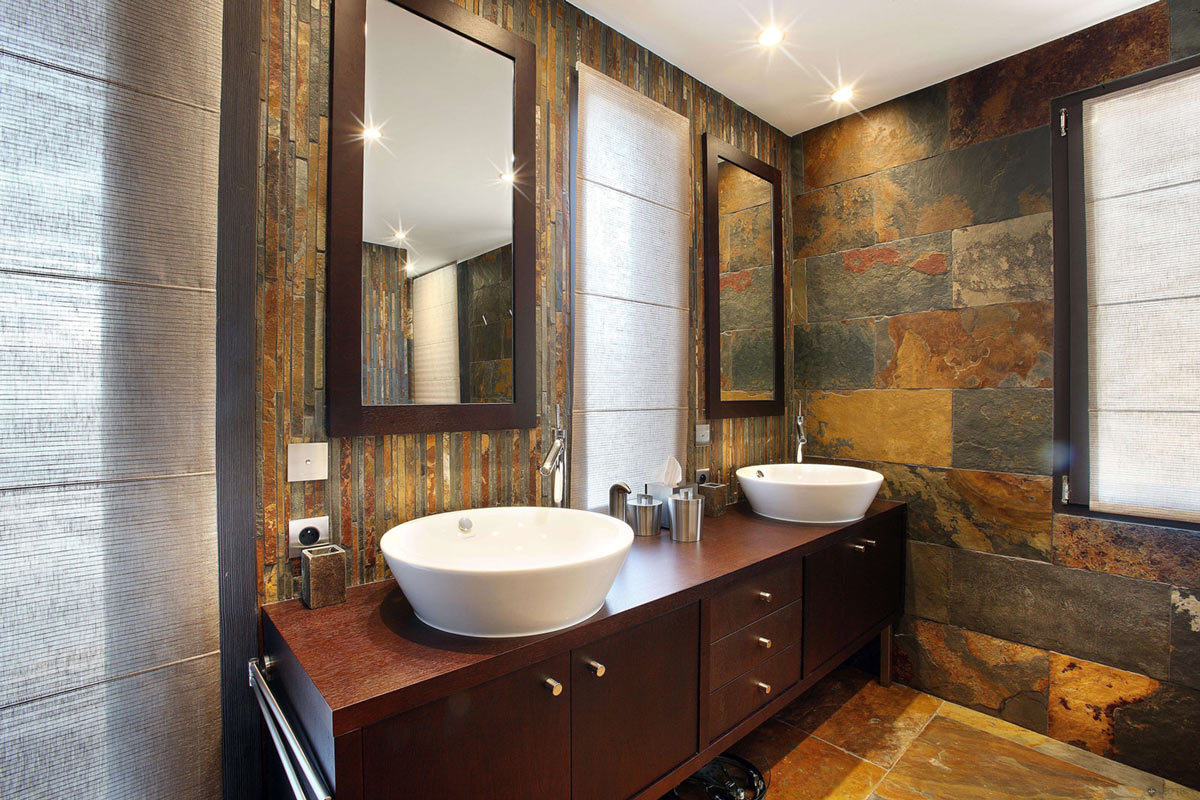 Modern Sinks, Chalet E in Courchevel 1850, France