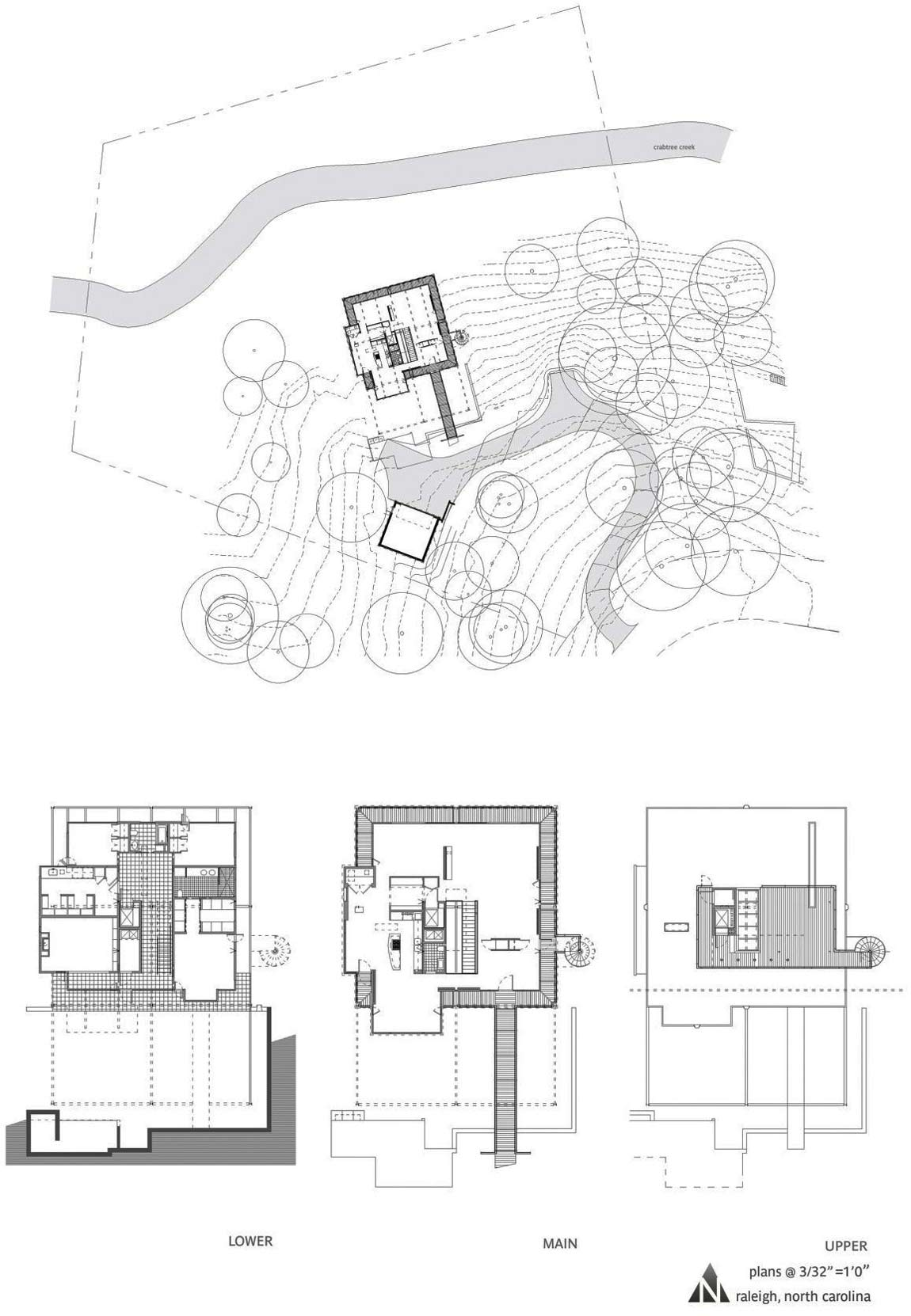 Floor Plans, Chiles Residence in Raleigh, North Carolina by Tonic Design + Construction