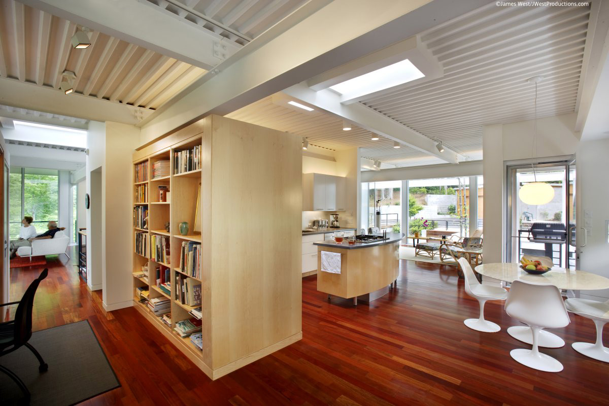 Kitchen, Breakfast Table, Chiles Residence in Raleigh, North Carolina by Tonic Design + Construction