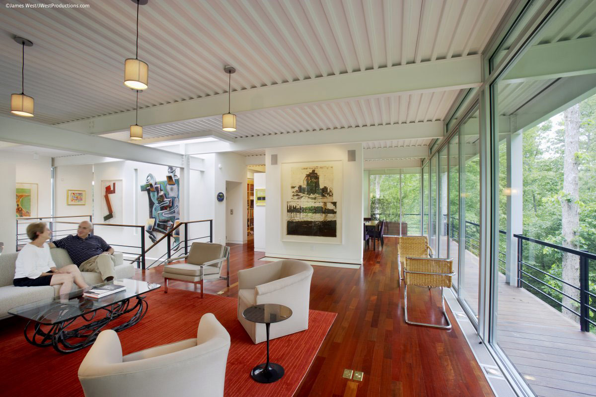 Living Space, Sofa, Coffee Table, Chiles Residence in Raleigh, North Carolina by Tonic Design + Construction