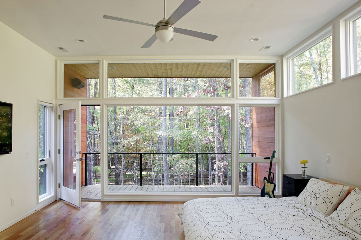 Balcony, Bedroom, Deck House Renovation in Chapel Hill, North Carolina