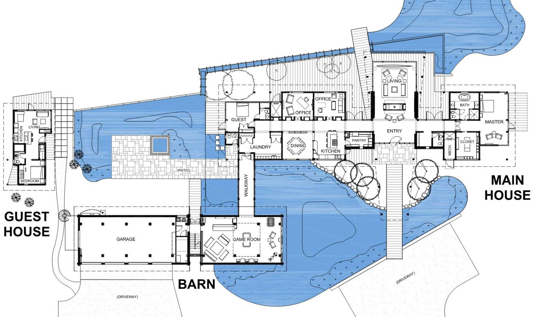Floor Plan, EHA Family Trust Residence in Wilson, Wyoming