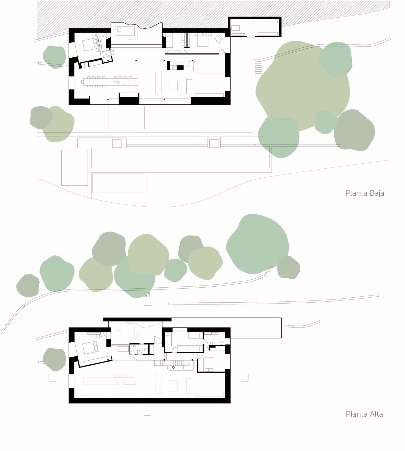 Floor Plans, Finca en Extremadura in Cáceres, Spain by ÁBATON
