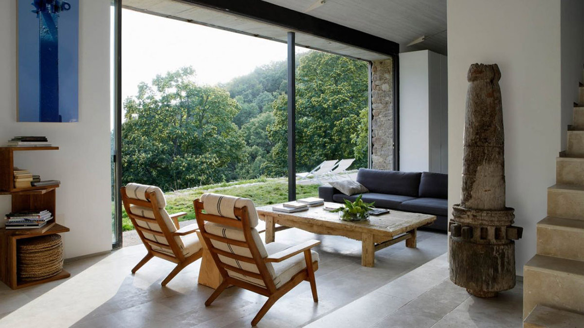 Living Space, Views, Finca en Extremadura in Cáceres, Spain by ÁBATON