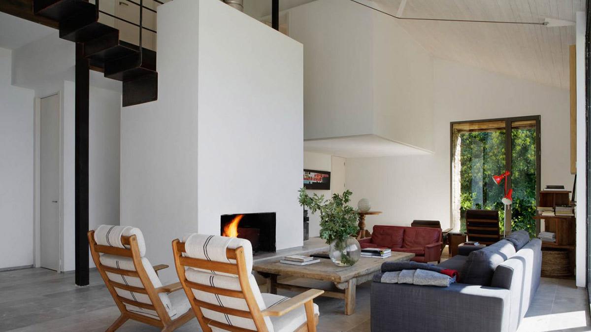 Sofas, Rustic Coffee Table, Finca en Extremadura in Cáceres, Spain by ÁBATON